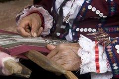 ręki tkactwo zdjęcia stock