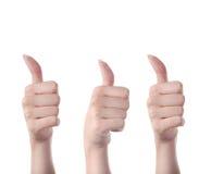 ręki trzy Fotografia Stock