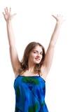 ręki up kobiety Obraz Royalty Free