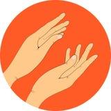 Ręki, wektorowa ilustracja aplauz Obrazy Stock
