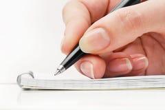 ręki writing Obrazy Royalty Free