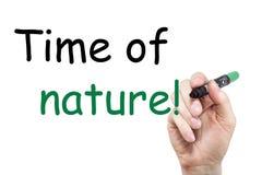 Ręki writing inskrypcja z markierem Fotografia Stock