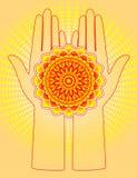 Ręki z kwiatem Zdjęcie Stock