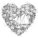 Ręki zentangle rysunkowy element czarny white Zdjęcie Royalty Free
