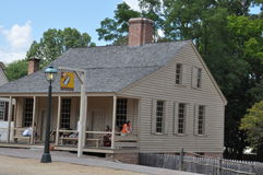 r Le café de Charlton à Williamsburg colonial, la Virginie Photo stock