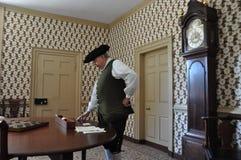 r Le café de Charlton à Williamsburg colonial, la Virginie Photos stock
