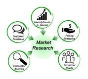 Rôle de recherche de marché illustration stock