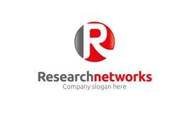 R listu logo Zdjęcie Stock