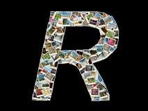 R litera - collage of travel photos Royalty Free Stock Photos