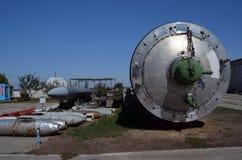 R-36M2 Voevoda SS-18 Mod5/Mod6洲际弹道导弹ICBM GRAU 15A18北约名字SS-18撒旦 免版税库存图片