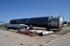 R-36M2 Voevoda SS-18 Mod5/Mod6 för NATO-namn SS-18 för interkontinental ballistisk missil ICBM GRAU 15A18 Satan Arkivbild