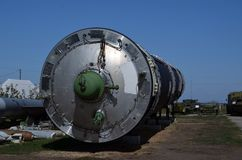 R-36M2 Voevoda SS-18 Mod5/Mod6 intercontinental ballistic missile ICBM GRAU 15A18 NATO name SS-18 Satan. Museum of Soviet Strategic Nuclear Forces..POBUGSKOE royalty free stock images