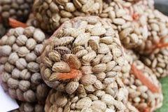 Rå mandlar i skal Fotografering för Bildbyråer