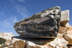 rå marmor Royaltyfria Bilder
