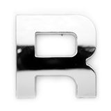 R - Metal letter royalty free stock image