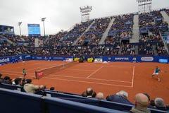 r Nadal- D, Ferrer, spelers in Barcelona opent, een jaarlijkse tennistoernooien voor mannelijke professionele speler royalty-vrije stock afbeelding