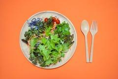 r Nourriture saine mangez le concept propre Configuration plate Photo libre de droits