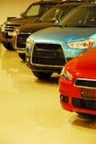 Rå nya bilar Royaltyfri Bild