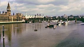 R?o Thames de Londres almacen de video