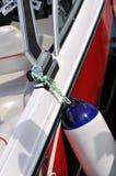 röd yacht för floater Royaltyfria Bilder