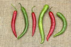 röda varma peppar för chili Royaltyfria Bilder