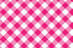 R??owy gingham wz?r Tekstura od rhombus, kwadrat?w dla/- szkocka krata, tablecloths, odziewa, koszula, suknie, papier, po?ciel, k ilustracja wektor