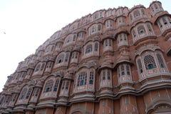 R??owy wiatrowy pa?ac w Jaipur, Rajasthan, India fotografia stock