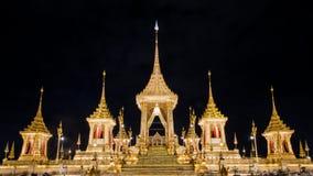 A r?plica real do cremat?rio para o rei Bhumibol Adulyadej Pra pode Ru Maat em Sanam Luang para a cerim?nia f?nebre real da crema imagem de stock