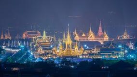 A r?plica real do cremat?rio para o rei Bhumibol Adulyadej Pra pode Ru Maat em Sanam Luang para a cerim?nia f?nebre real da crema fotos de stock royalty free