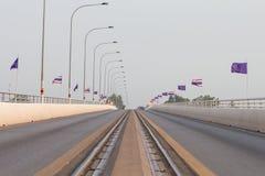 1r puente de la amistad de Tailandia - de Laos Fotografía de archivo