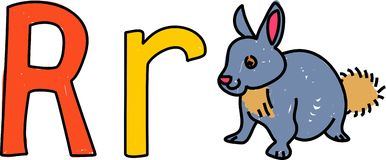 R is for rabbit Stock Photography