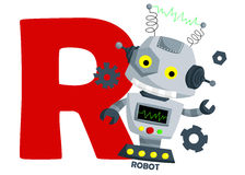 R For Robot Stock Image
