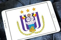 r S C Логотип клуба футбола Anderlecht Стоковые Фотографии RF