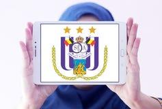 r S C Логотип клуба футбола Anderlecht Стоковое Изображение