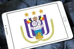 r S C Logotipo do clube do futebol de Anderlecht Fotos de Stock Royalty Free