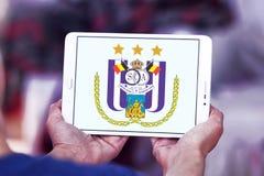r S C Logotipo do clube do futebol de Anderlecht Foto de Stock