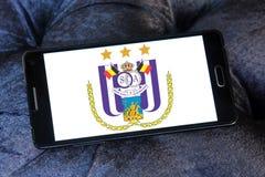 r S C Logotipo do clube do futebol de Anderlecht Imagem de Stock Royalty Free