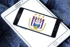 r S C Logotipo do clube do futebol de Anderlecht Imagens de Stock Royalty Free