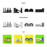 r Samling av produktion och illustrationen f?r vektor f?r teknologimateriel vektor illustrationer