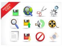R-series de los iconos del Internet Fotografía de archivo