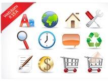 R-series de los iconos del Web y del Internet Imágenes de archivo libres de regalías