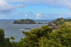 R?servation sc?nique de Tutukaka qui est walkable ? Kukutauwhao pendant les mar?es basses au Nouvelle-Z?lande photographie stock libre de droits