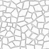 R000 Stone wall - ambient map. Computer generated texture stone masonry wall. Differently sized stones insert in concrete. Seamless tileable repeating square 3D vector illustration