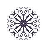 R?sum? Mandala Geometry Outline pour la d?coration ou le tatouage illustration de vecteur