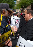 A.R.T.I.S.T. Demonstration New York City USA Royalty Free Stock Images