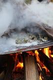Rôti d'huître dans les sud profonds Image stock