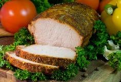 Rôti de porc Photos stock