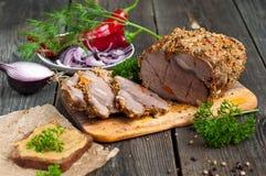 Rôti de porc en épices photos libres de droits