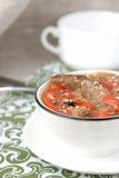 Rôti diététique avec les poivrons doux, les oignons, les graines de sésame et le b Photographie stock