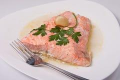 Filet de saumons de rôti Photographie stock libre de droits